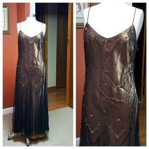 Downton Abbey style gold/black gown
